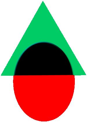 Зеленый треугольник разума пересекает красный круг инстинктов?